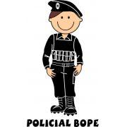 Decalque para Porcelana - Policial(a) Bope