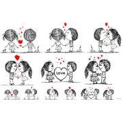 Decalque para Porcelana - Primeiro Amor