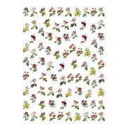 Decalque para Porcelana - Rosas Mini 3cm