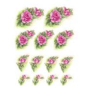 Decalque para Porcelana - Rosas