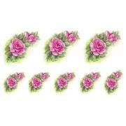 Decalque para Porcelana - Rosas 7 e 4,5cm