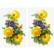 Decalque para Porcelana - Rosas Amarelas 13cm