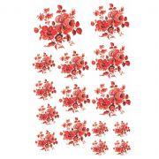 Decalque para Porcelana - Rosas Vermelhas