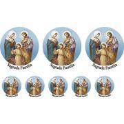 Decalque para Porcelana - Sagrada Família