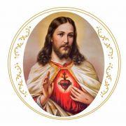 Sagrado Coração de Jesus Cristo 15cm  -Arabesco em Ouro