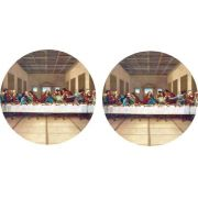Decalque para Porcelana - Santa Ceia 11,5cm
