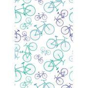 Decalque para Porcelana - Tapete Bicicletas