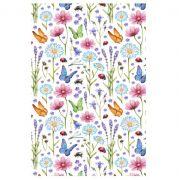 Decalque para Porcelana - Tapete Flores Silvestres