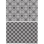 Decalque para Porcelana - Tapete Geométrico Modelo 5