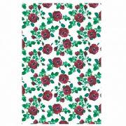 Decalque para Porcelana - Tapete Rosas Vermelhas