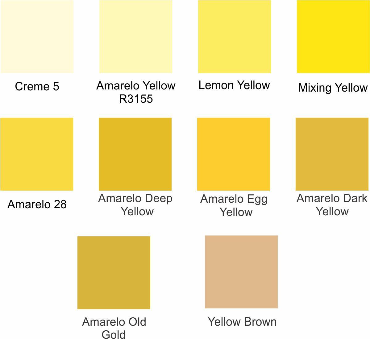 Tintas para Porcelana - Amarelos