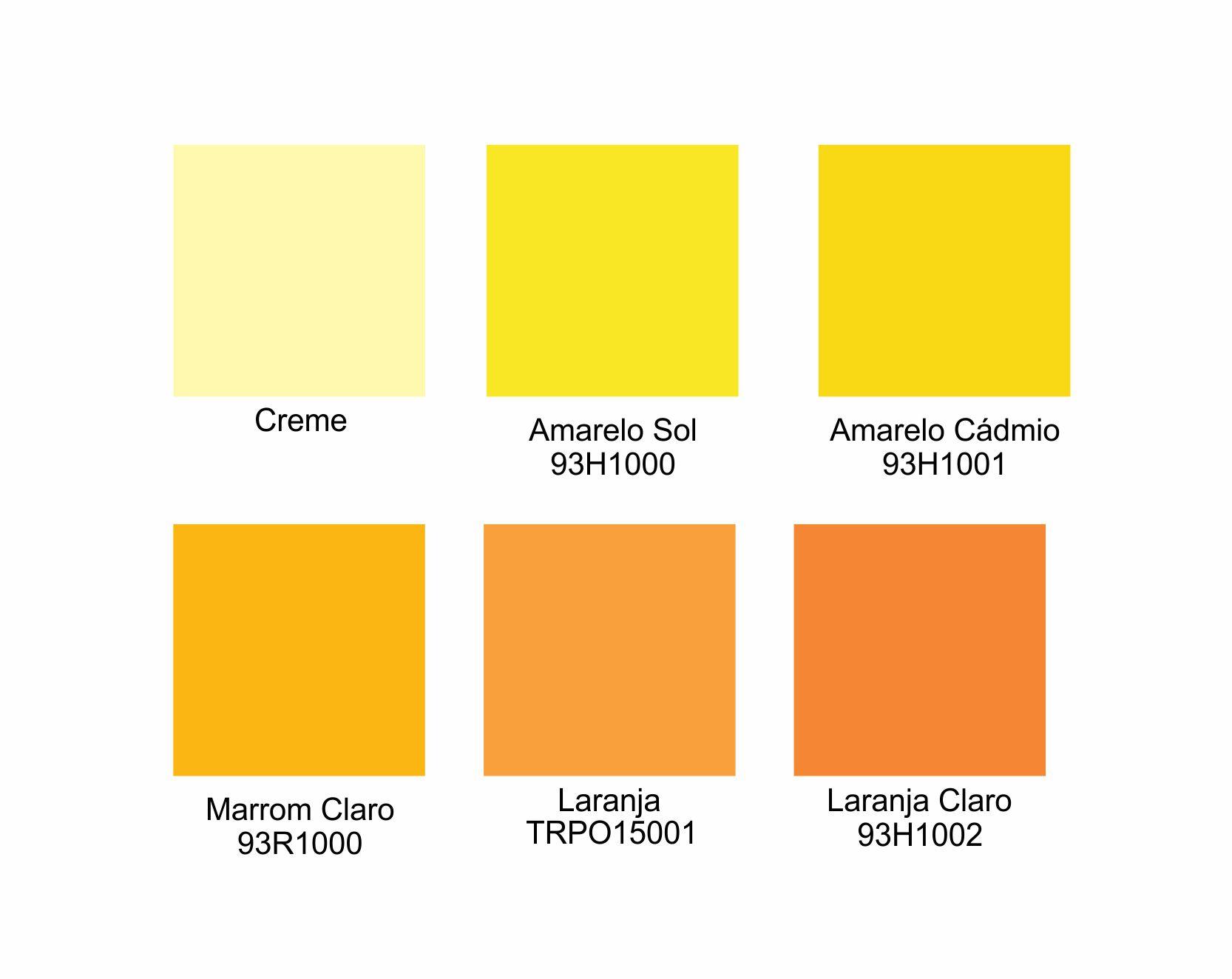 Tintas para Porcelana - Amarelos e Laranjas