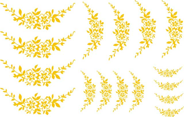 Decalque para Porcelana - Arabesco Florzinha Ouro