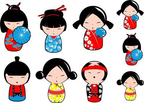 Decalque para Porcelana - Asiáticas(os)