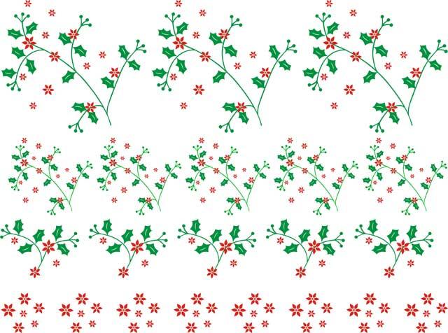 Decalque para Porcelana - Azevinhos de Natal Delicado