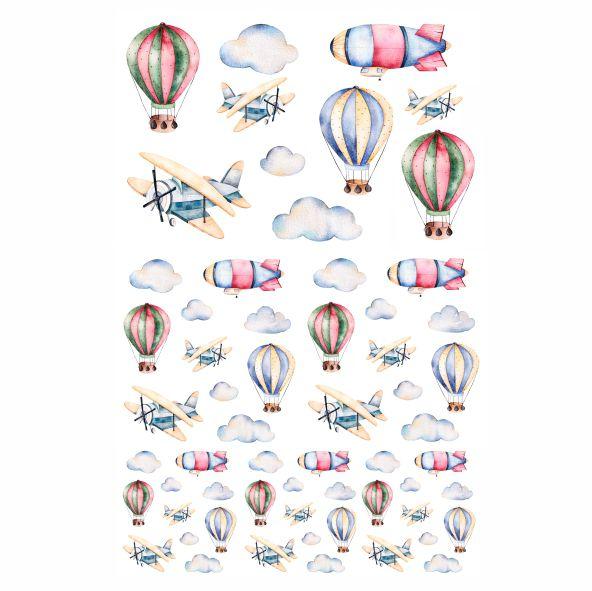 Decalque para Porcelana - Balões