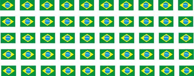 Decalque para Porcelana - Bandeira do Brasil 1,5 cm