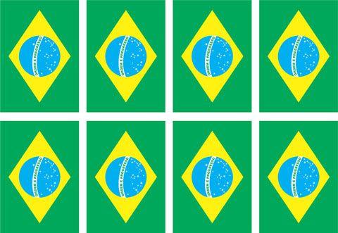 Decalque para Porcelana - Bandeira do Brasil 6,5cm