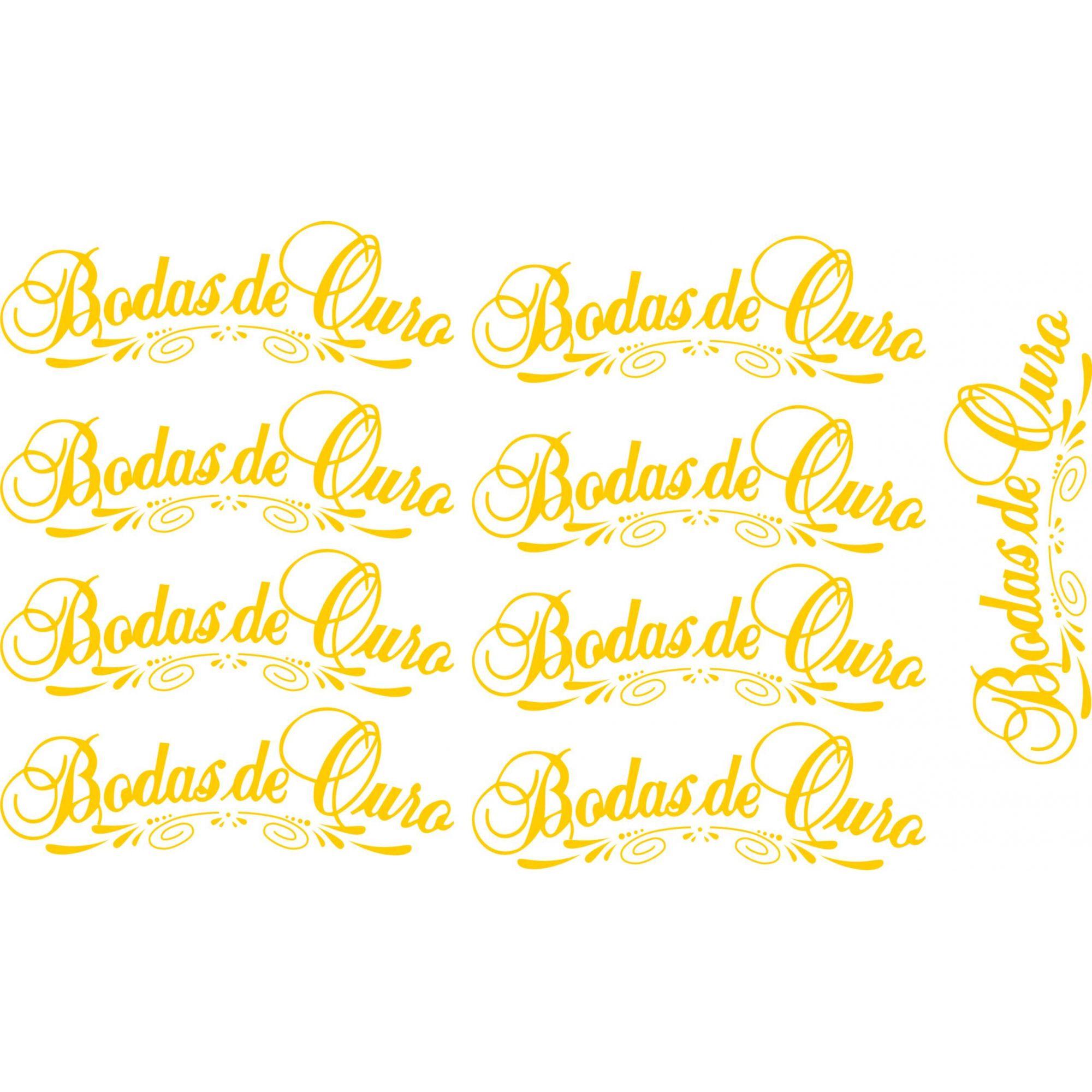 Decalque para Porcelana - Bodas de Ouro - Escrito 9,5cm