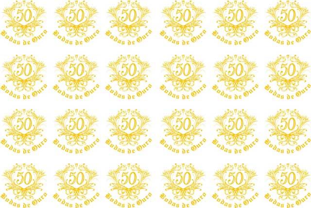Decalque para Porcelana - Bodas de Ouro Ref.6