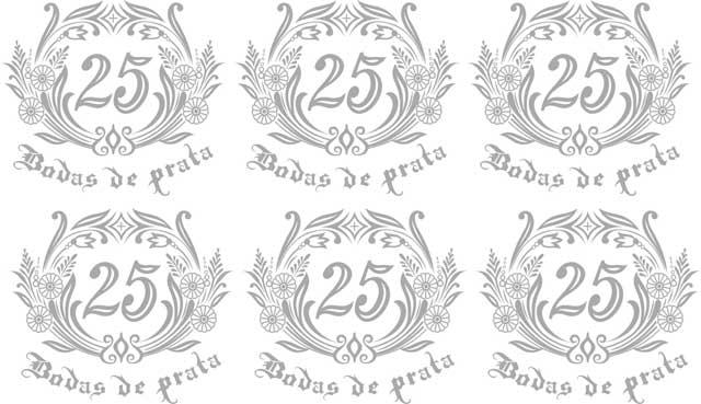Decalque para Porcelana -Bodas de Prata Ref.4