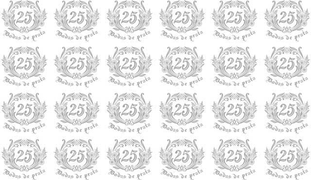 Decalque para Porcelana -Bodas de Prata Ref.6