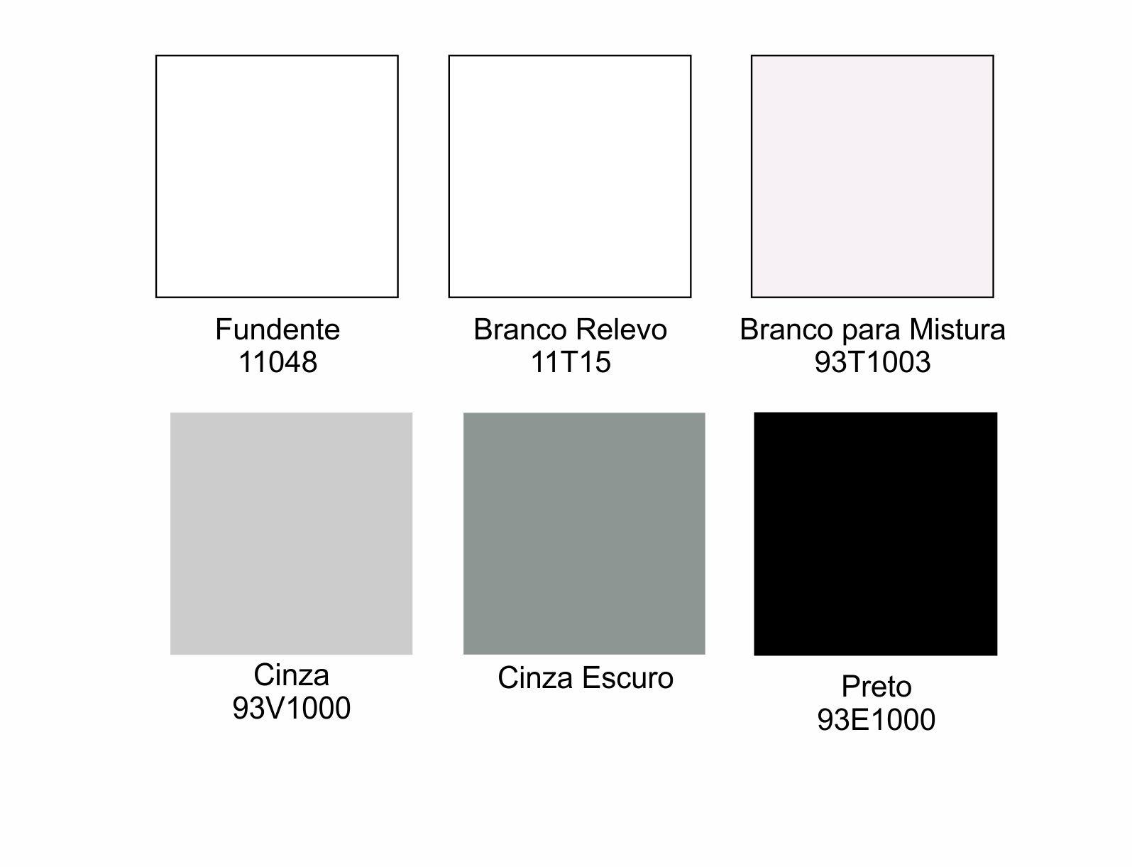 Tintas para Porcelana - Brancos e Pretos