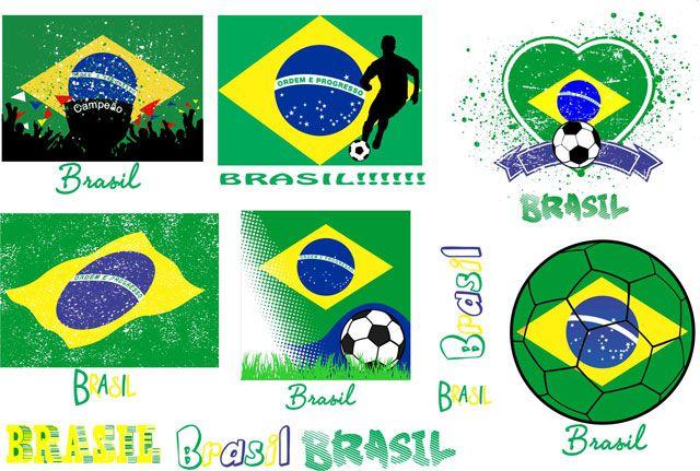 Decalque para Porcelana - Brasil Especial Futebol