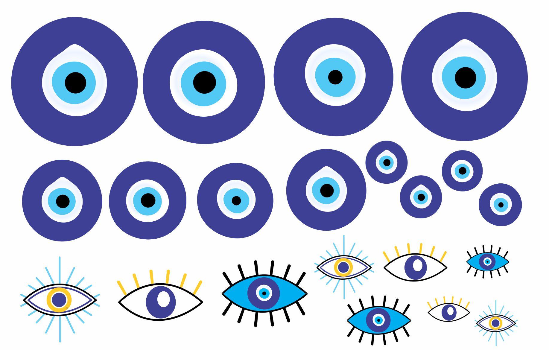 Decalque para Porcelana - Olho Grego