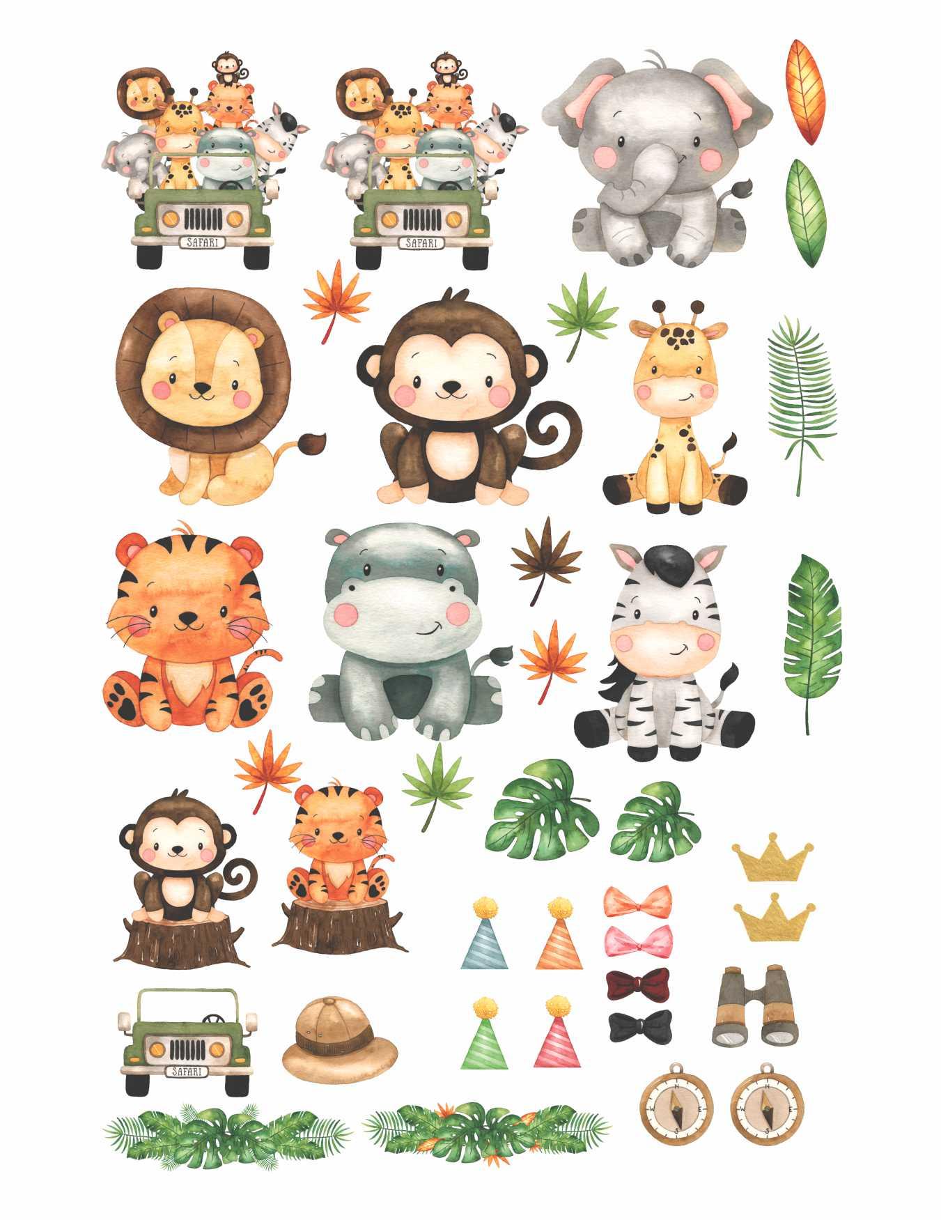 Decalque para Porcelana - Safari