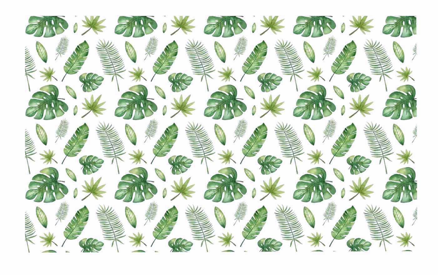 Decalque para Porcelana - Safari Folhas
