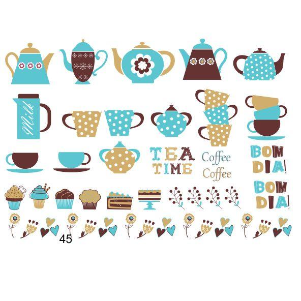 Decalque para Porcelana - Chá e Café