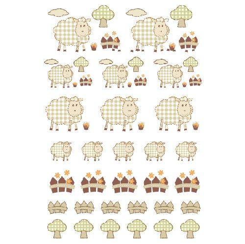 Decalque para Porcelana - Coleção Cute - Ovelhinhas