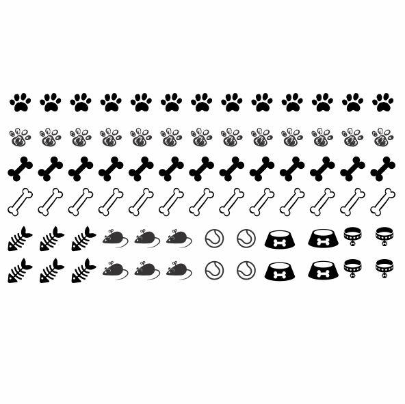 Decalque para Porcelana - Complementos Gatos e Cachorros