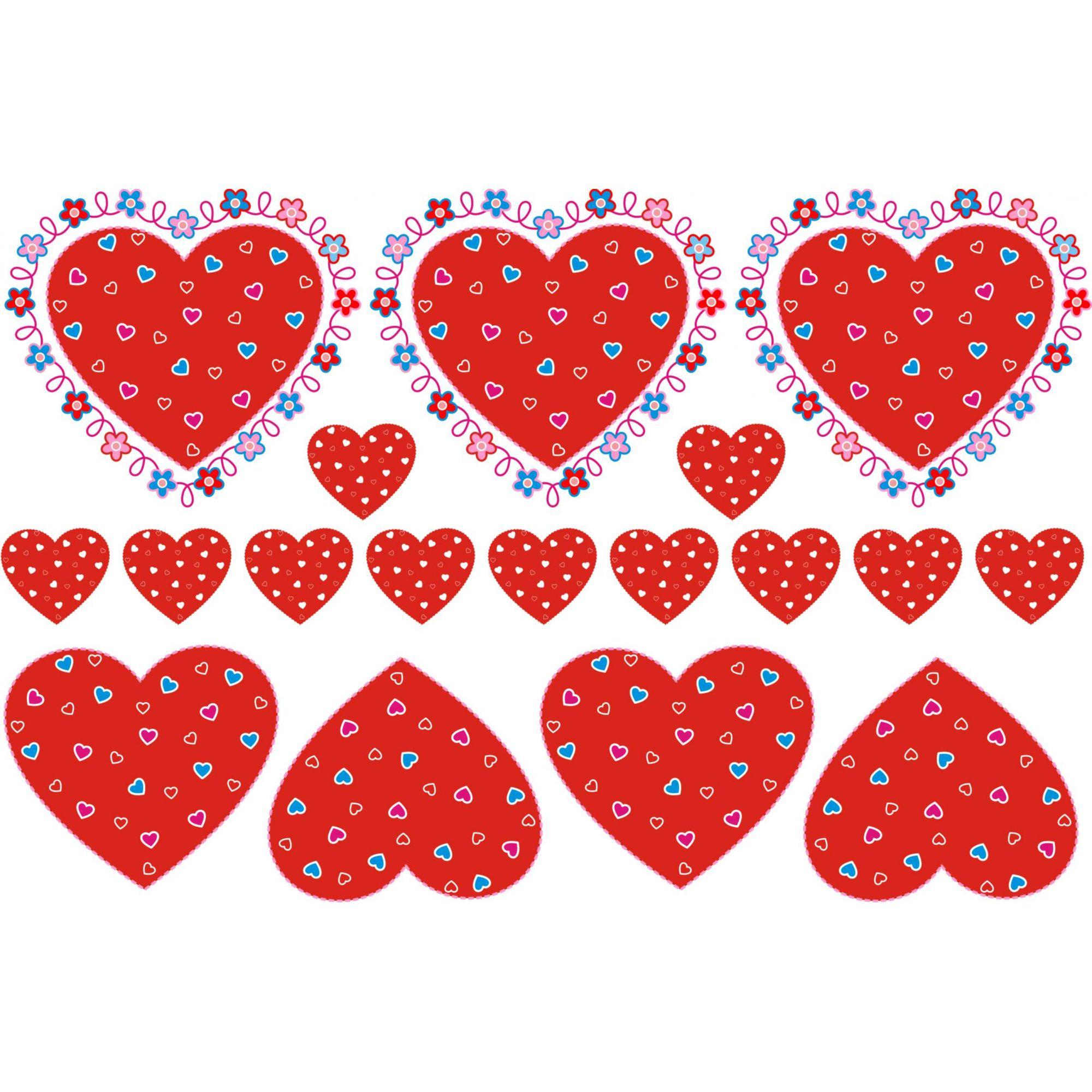 Decalque para Porcelana - Coração e Florzinhas