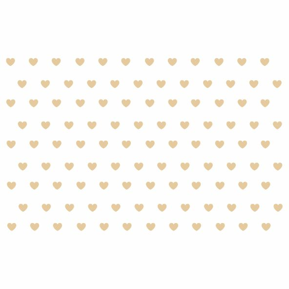 Decalque para Porcelana - Coração Mini Lustre Bronze