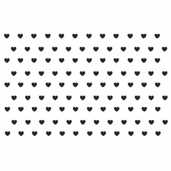 Decalque para Porcelana - Coração Mini Preto