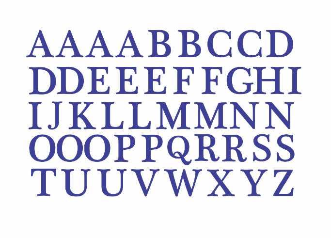Decalque para Porcelana - Alfabeto 2cm - AZUL MARINHO