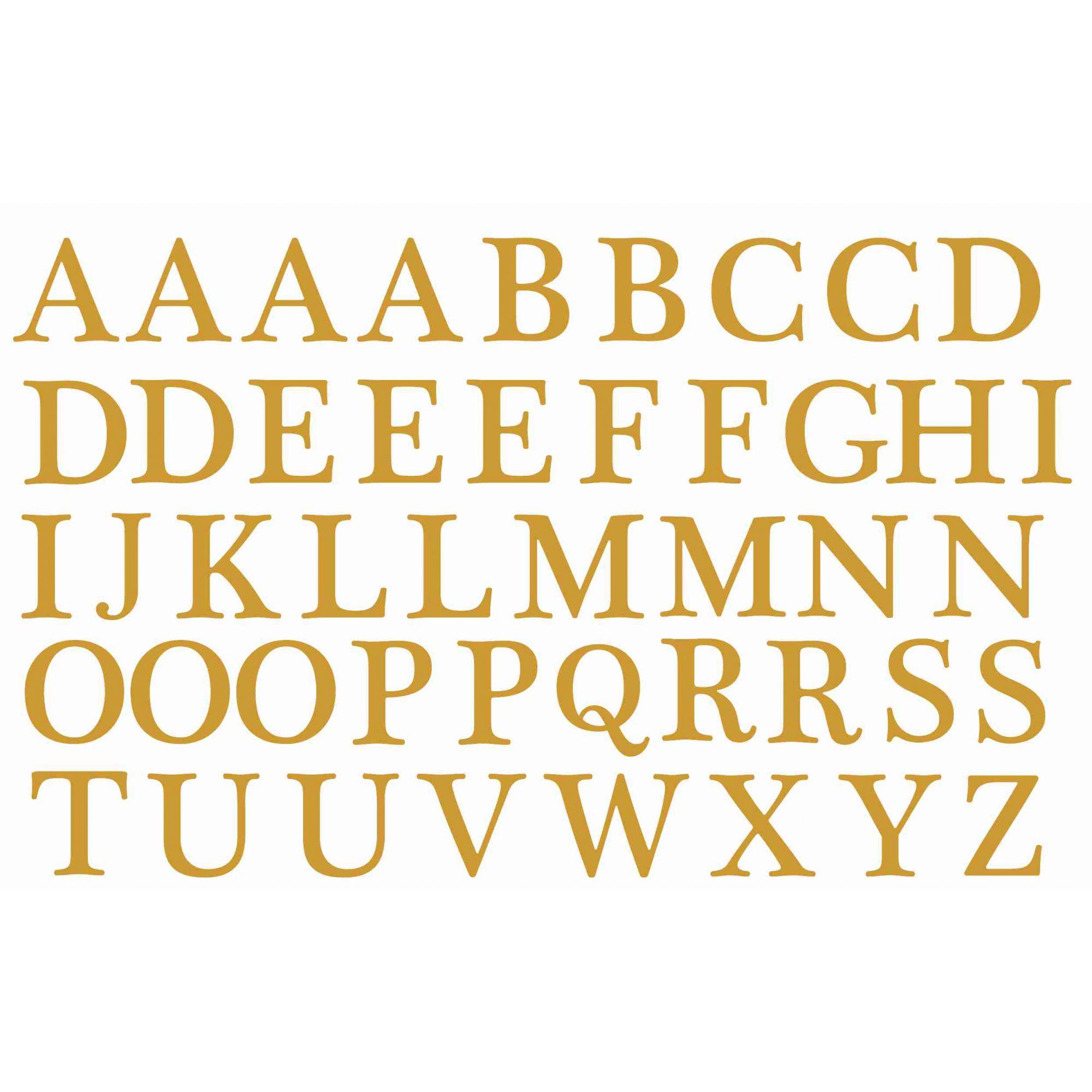 Decalque para Porcelana - Alfabeto 2cm - OURO