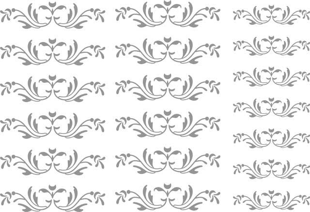 Decalque para Porcelana -Arabesco Delicado Prata