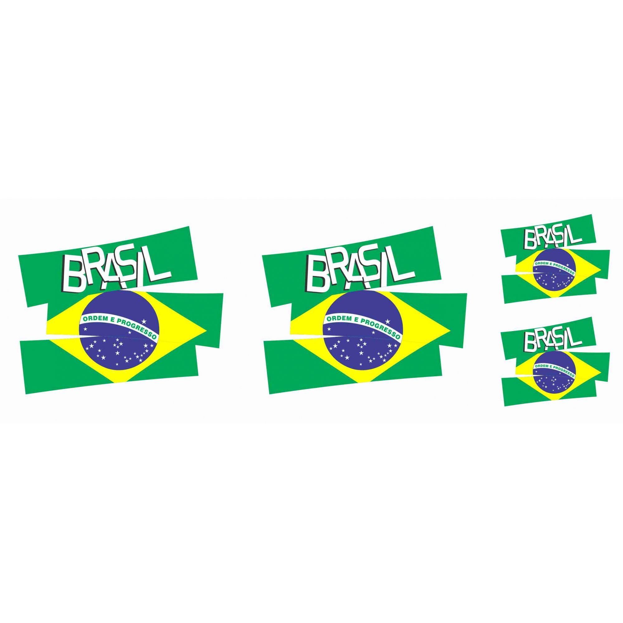 Decalque para Porcelana - Brasil Recortado