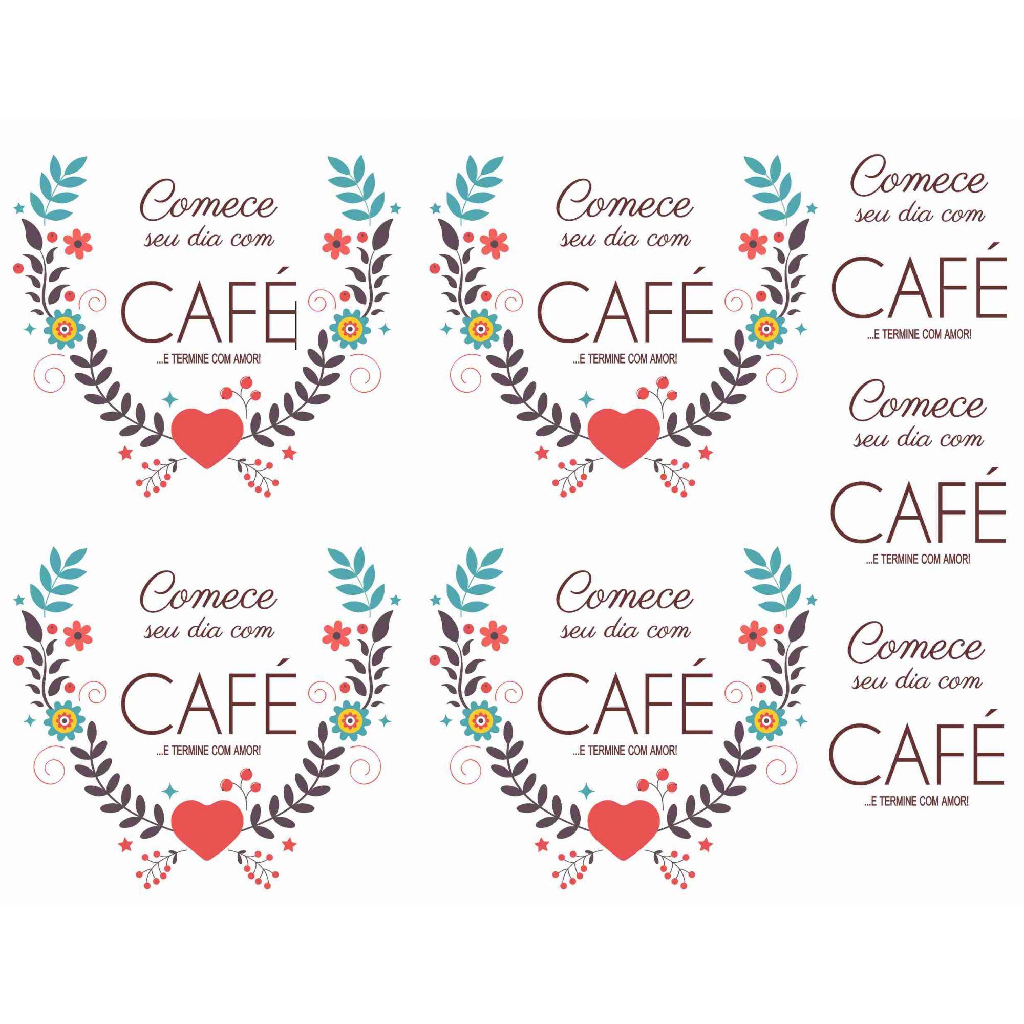 Decalque para Porcelana - Café Colors