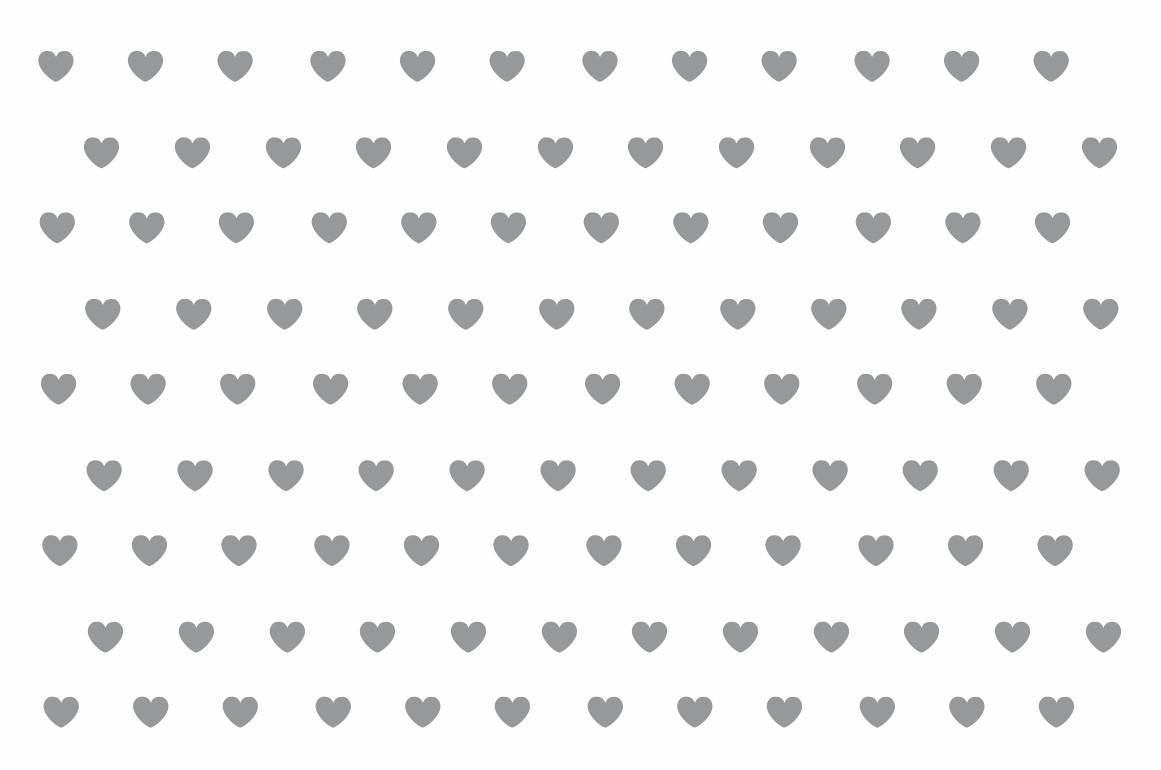 Decalque para Porcelana - Coração Mini Prata