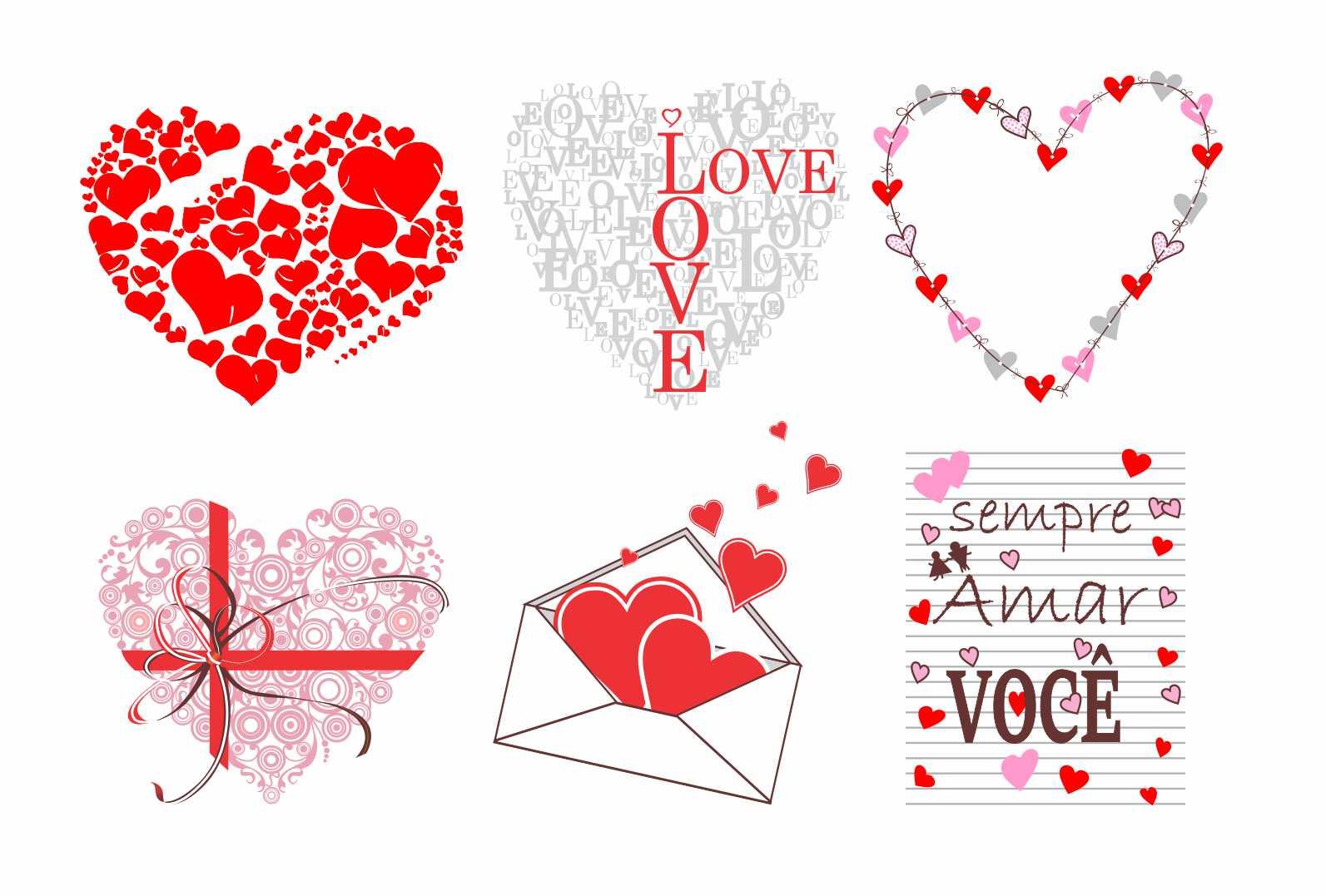 Decalque para Porcelana - Corações Sempre