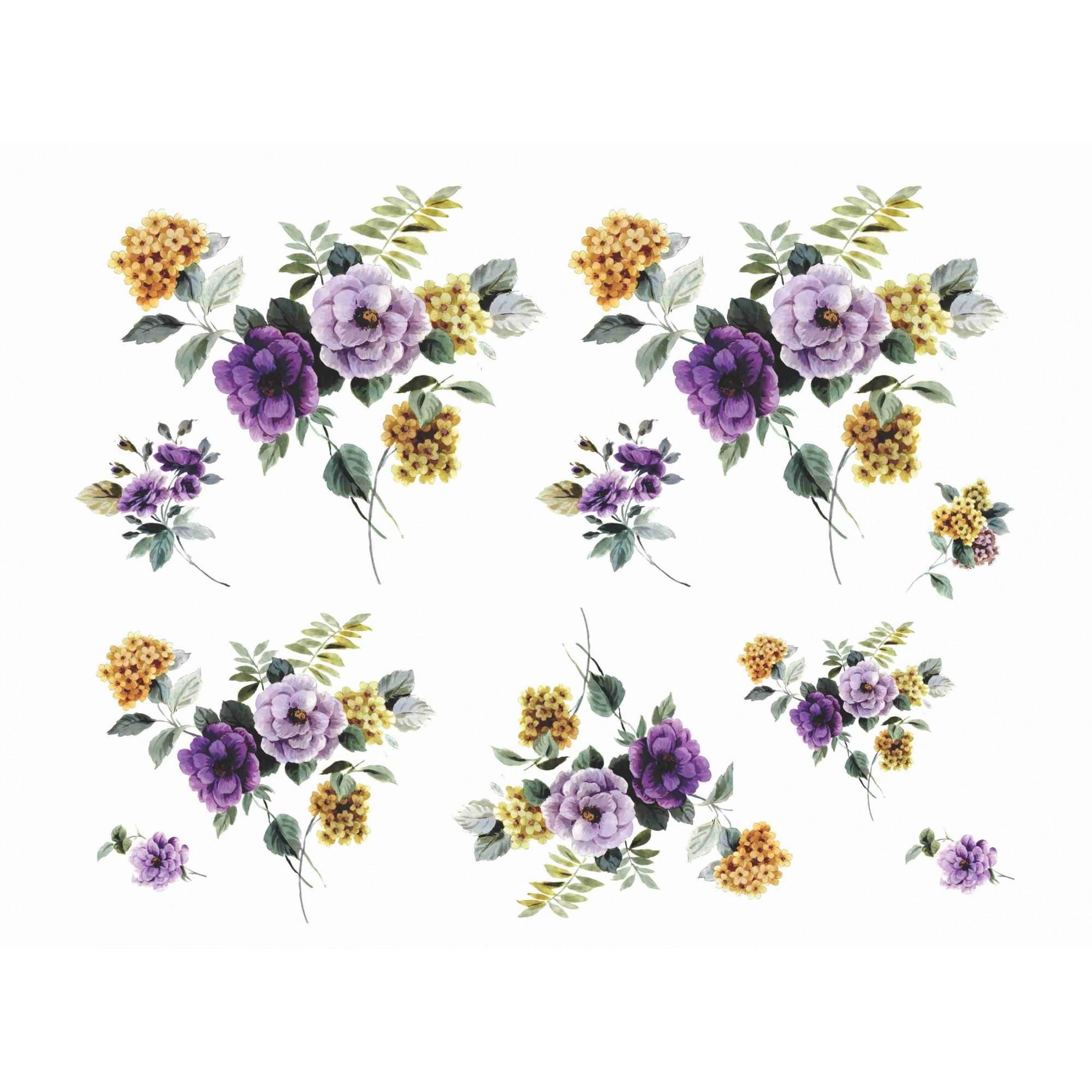 Decalque para Porcelana - Flores Outono 9 e 7cm