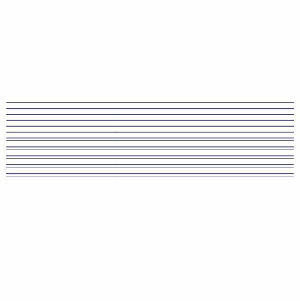 Decalque para Porcelana - Frisos Azul Marinho