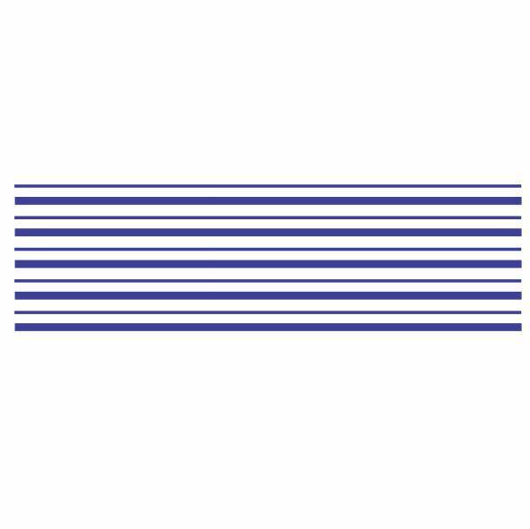 Decalque para Porcelana - Frisos Largos Azul Marinho