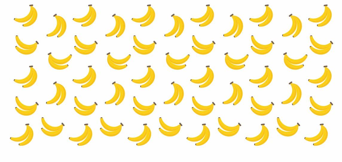 Decalque para Porcelana - Frutinhas Banana