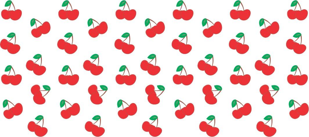 Decalque para Porcelana - Frutinhas Cereja