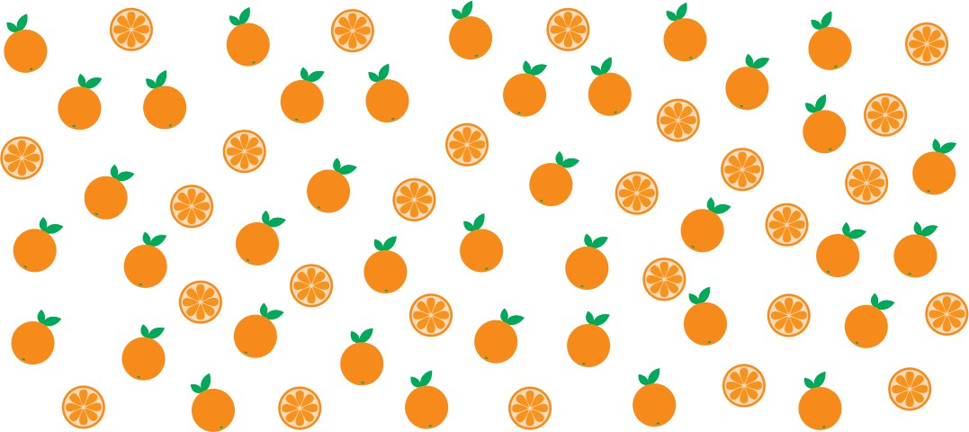 Decalque para Porcelana - Frutinhas Laranja